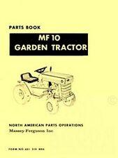 MASSEY FERGUSON MF 10 Garden Tractor Parts Book Manual