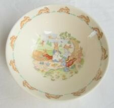 "Royal Doulton BUNNYKINS Bowl 6"" Picnic Cereal Snack English Fine Bone China"