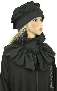 PoCo DeSiGn LAGENLOOK Winter Polar Fleece Raffschal Schal schwarz Accessoires