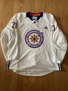 2021 New York Rangers Women's Empowerment Warm-Up Worn Jersey - Brett Howden