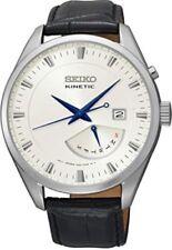 Relojes de pulsera fecha Seiko de cuero