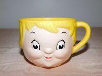 "VINTAGE KITCHEN  2 1/2"" HIGH CAMPBELL SOUP GIRL   PLASTIC MUG CUP MINOR WEAR"