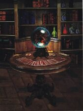 """*Postcard-""""The Fortune Teller Table"""" (Crystal Ball & Deck/Cards)  (C16)"""
