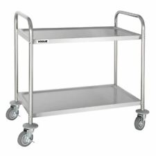 More details for vogue stainless steel 2 tier clearing trolley medium