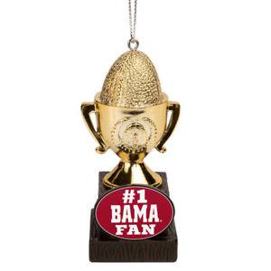 Alabama Crimson Tide Logo Football NCAA #1 Fan Trophy Holiday Tree Xmas Ornament