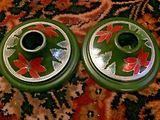 Nice! Vintage Composite Christmas Candle Holders Poinsettias Bakelite
