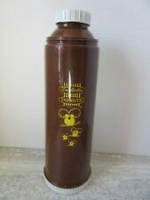 Old Vintage Tim Hortons Timbits Coffee Thermos Brown & Yellow