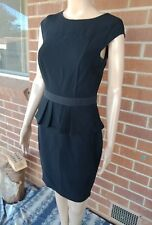 Womens Dress 8 Portmans Status Black Peplum Career Tailored Fitted office Work