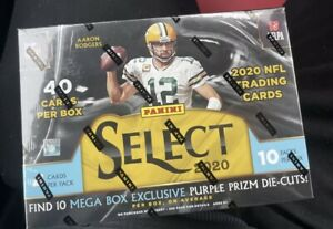 Brand New Factory Sealed 2020 Panini Select Football MEGA Box 2020 In Hand