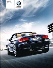 2008 BMW M3 Convertible E93 46-page Original Car Sales Brochure Catalog