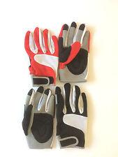Coppia guanti per  MTB -mountain bike - color B / nero - B / rosso TG. M cod 274