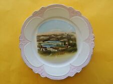 ANTIQUE IDAHO TEA COMPANY PLATE LEWISTON SNAKE RIVER BRIDGE WHEELOCK
