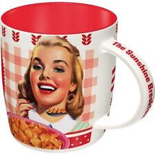 Retro Sturdy Ceramic Mug Kellogg's CORN FLAKES Girl 1950's Licensed Breakfast