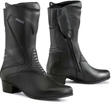 STIVALI BOOTS MOTO IMPERMEABILI FORMA RUBY DONNA LADY LEATHER PELLE TG 37