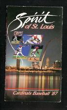 St Louis Cardinals--1987 Pocket Schedule--Budweiser