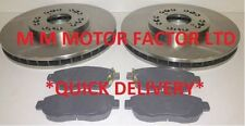 LEXUS GS300 3.0 V6 (93-00) FRONT 2 BRAKE DISCS AND PADS SET BRAND NEW KIT