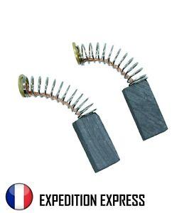 Paire de charbons pour moteur électrique 4 x 6 x 13 mm Universel Balais Brosses