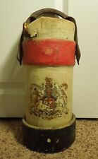 England Horseback Heavy Canvas Powder or Cannonball Holder Carrier- Coat of Arms