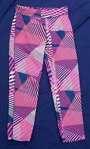 GAP Girls Cerise Pink Navy Fitness Training Leggings Poly Elastane 13 Years XXL