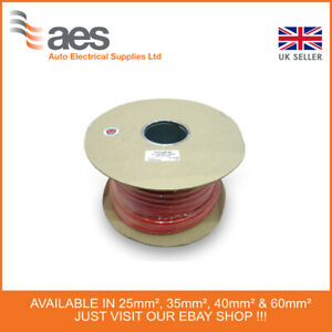 Red Battery & Welding Cable Sizes 40mm² - 30M length
