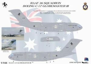 1/144 RAAF DECAL; Boeing C-17A GLOBEMASTER III 36 Squadron