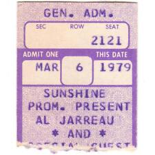 Al Jarreau Concert Ticket Stub South Bend Indiana 3/6/79 Morris Auditorium Rare
