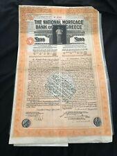 More details for greece: national mortgage bank of greece, 7% sterling mortgage bond, £100, 1930