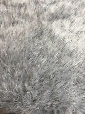 BEAUTIFUL SILVER GREY BRIDAL FUR FABRIC SOLD BY THE HALF METRE LENGTHS