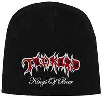 Tankard Kings Of Beer Beanie Hat Official Black Death Metal New
