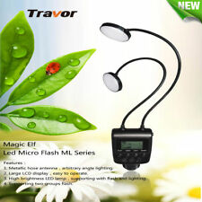 Travor Macro Dual 24-LED Ring Flash Light ML-2D for Nikon Canon Olympus Sony-MIS