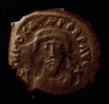 Byzanz, Phocas, 602-610, Follis Konstantinopel, Sear 640