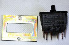 Drucktaster Druckschalter 3 polig 250V~ 10A EIN AUS Schalter Einbauschalter neuw