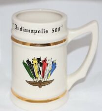 Vintage Collectible Mug Beer Stein Indianapolis 500 Motor Speedway Collector Cup