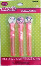 Party Favors DISNEY MINNIE MOUSE Bubble Wands Birthday Loot Bag Filler 3 Pack
