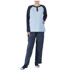 c35f1a65 Fleece Pajama Set MEDIUM Womens Blue Sleep Shirt Lounge Bottoms Socks 3pc  NWT