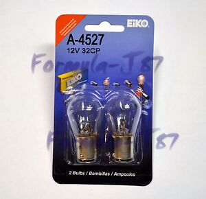 EIKO BA15S 32CP S-8 12V 23W A-4527 TWO BULB LIGHT TURN BACK UP REPLACEMENT LAMP