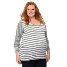 Oh Baby by Motherhood Maternity Stripe Ruched Top/Shirt - Size 1X - NWT!!
