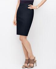 Ann Taylor - Petites 8P Blue Cotton Sateen Pencil Skirt $79.00 (D611)