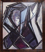 -Fantastic- Vintage -Cubism- New York City Cubist Abstract Original Painting