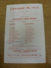 16/09/1972 Liverpool Reserves v Leeds United Reserves [Autographed By: Sean O'Ne