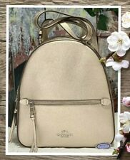 NWT COACH JORDYN BACKPACK Shoulder Bag In Metallic PLATINUM Leather SILVER Tone