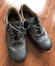 Robert Zur Grey Trim Leather Sneakers Size 7.5 AA