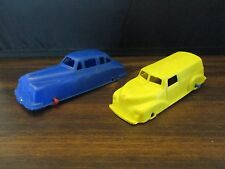 Patton Prod. Plastic Cars Blue Sedan & Yellow Delivery Wagon