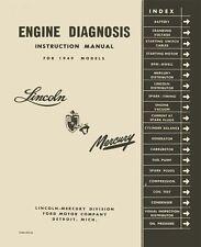 1949 Lincoln Mercury Engine Diagnosis Shop Service Repair Manual Book Guide OEM
