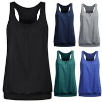 Women Loose Sports Vest Fitness Gym Yoga Workout Tank Tops Singlet Loose Tops VT