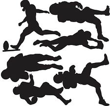 FOOTBALL PLAYERS Set Vinyl Wall Decals Boys Room Sports Decor