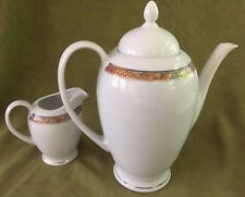 Zepter International Porcelain COFFEE POT w/ Creamer #2450  Fine China