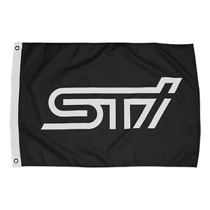 Subaru STI Logo Official FLAG WRX RALLY TEAM MOTORSPORTS USA Forester Outback