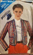 Vtg Butterick See & Sew pattern 3860 Misses' Lined Jacket  size 8, 10, 12 uncut