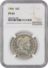 1906 50c NGC PR 63 - Barber Half Dollar